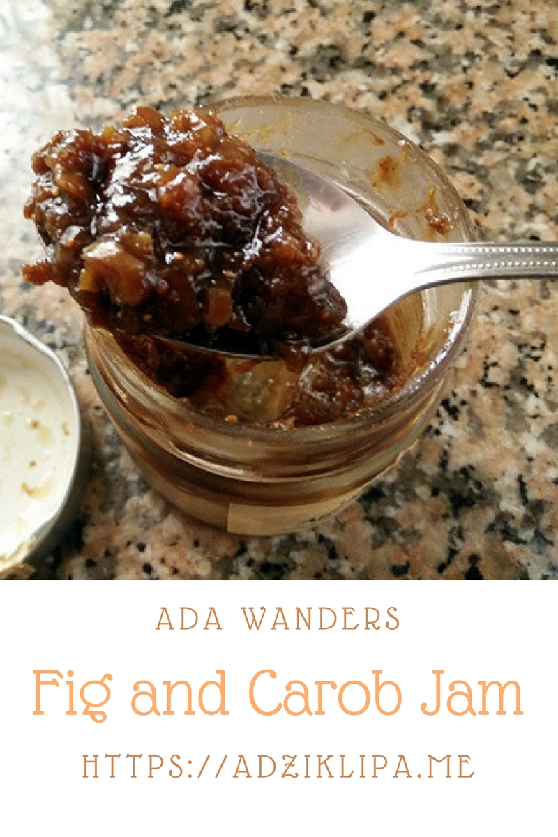 Ada Wanders/Włóczykijada. Fig And Carob Jam.